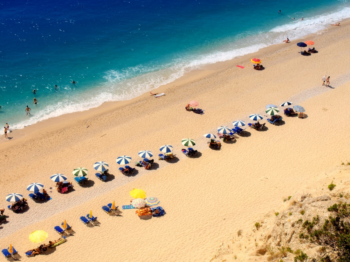 'Egremni beach at Lefkada, Ionion sea, Greece' - Lefkada